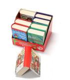 Rectángulo de empaquetado de papel Shaped del libro para la Navidad