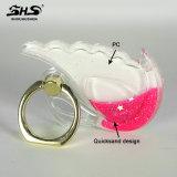 Supporto dell'anello del metallo di scintillio del Quicksand di figura del cigno di Shs per il telefono mobile