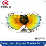 Premières lunettes de soleil duelles sphériques conçues neuves en gros de patin de Snowboard de lentilles d'anti de regain de bâti de TPU lunettes r3fléchissantes de ski doubles