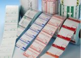 Escritura de la etiqueta de la alta calidad de la etiqueta engomada de las mercancías del negocio para el embalaje