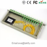 1X8/1X16/1X32/1X64鋼鉄管のタイプ光ファイバ小型PLCのディバイダー