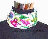 Förderungflourish-Silk nachgemachter Twill-Polyester-Quadrat-Schal (HWBS015)