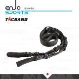 Negro táctico resistente de la honda del amortiguador auxiliar de dos puntas SL04