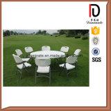 Muebles de camping baratos de plástico al aire libre plegable mesa y sillas