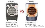 экономичный воздушный охладитель комнаты 3000CMH/портативный кондиционер с цистерной с водой 60L и панелью & дистанционным управлением СИД для крытого/напольного/коммерческого использования