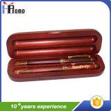 De ovale Houten Doos van de Pen met Pen