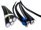 Al 19/33kv/cabo empacotado aéreo do ABC cabo de XLPE padrão do IEC 60502/PVC