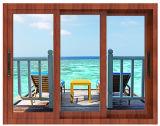 Алюминиевая внешняя низкая раздвижная дверь стекла e