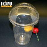 Tazza di plastica personalizzata del succo puro con il coperchio