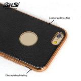 configuration de cuir d'impression d'allégement 3D et caisse de téléphone de la vue TPU de la couleur une de chrome pour iPhone7