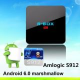 Nouvelle arrivée de haute performance R-Box PRO Amlogic S912 Android 6.0 TV Box Octa base Arm Mali-T820MP3 2 Go + 16 Go