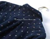 Camicia blu delle donne dei puntini di Polka