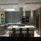 光沢度の高い灰色カラーラッカー終わりは食器棚を反スクラッチする
