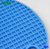 BPA livram o Potholder Shaped redondo de Tablemat Placemat da esteira do silicone do produto comestível de teste padrão de grade