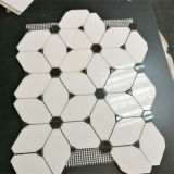Естественная плитка мозаики Thassos белая мраморный для стены или пола