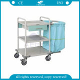 AGSs017医療機器の金属フレームの病院のリネン洗濯のトロリー
