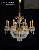Luzes decorativas de cristal do candelabro do pendente do bulbo da vela para Salão