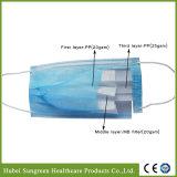 Maschera di protezione non tessuta a gettare chirurgica con il ciclo dell'orecchio