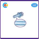 Tornillos galvanizados Steel/4.8/8.8/10.9 de los sujetadores de la maquinaria/de la industria de los tornillos de socket del hexágono del carbón