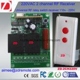 commutateur à télécommande de 2channel 500m rf 220V/12V/24V