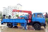 La qualité de Dongfeng 10 tonnes de chargeur de camion de remorque a monté avec la grue de 5 T
