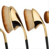 Profesional 9PCS Club de Golf Maquillaje cepillo en forma de ceja cejas Eyebrow labial maquillaje facial Oval cepillos para Lady Girl