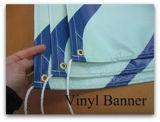 新しい低価格のデザインビニールの旗によって印刷される卸し売り旗