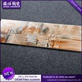 Foshan Juimsi 250× 750 azulejo de cerámica de la pared del azulejo de la inyección de tinta del material de construcción 3D