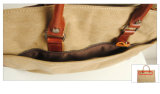 Modedesigner-Segeltuch-Handbeutel-echtes Leder-Modedesigner-Handtaschen (RS-880)