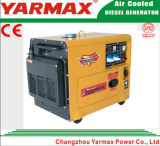 Générateur diesel silencieux 6kw 6kVA Ym8500t de station d'alimentation de secours