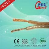 De Transparante Flexibele Kabel van de Spreker OFC, Kabel van de Spreker van de Isolatie van pvc van 2 Kern de Gouden of Zilveren, Transparante Vlakke