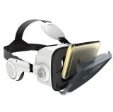 Vidrios de la realidad virtual 3D de los vidrios de la realidad virtual con el auricular del receptor de cabeza de Vr
