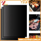 Rilievo su ordinazione del BBQ del Teflon dell'articolo da cucina del barbecue facile di Cleam della stuoia (XY-BBQ-KW-102)