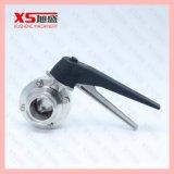 Válvula de borboleta sanitária e higiênica sanitária de aço inox Ss304 de 38,1 mm