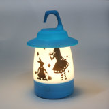 Lampe décorative actionnée portative d'éclairage de Tableau de lumière de la maison lumineuse en plastique DEL d'éclairage