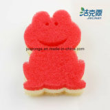 Lovely Frog Shape Filter Sponge, produtos de limpeza, esponja de lavagem, ferramenta de limpeza