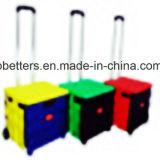 고품질 두 배 색깔 플라스틱 쇼핑 트롤리 손수레