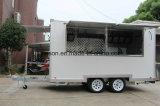 식사는 체더링 트레일러 판매를 위한 이동할 수 있는 간이 식품 트럭을 기계로 가공한다