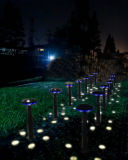 Luz impermeável High Lumen Solar Garden Lights Set 12W por atacado