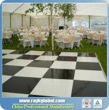 Dance Floor blanco y negro para el hotel y el suelo de madera de alquiler con el marco de aluminio