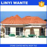 Tipo romano telha de telhadura revestida do metal da pedra colorida