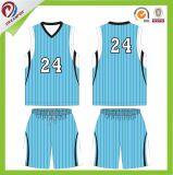 Uniforme sublimado de las personas de baloncesto de las mujeres de la raya con los colores de Panton