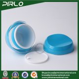 10g 30g 50gの贅沢で青いプラスチックスキンケアのクリームのパッキング容器のプラスチックはふたが付いているアクリルの物質的で装飾的なクリーム色の瓶を震動させる