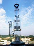 Großverkauf 15 Zoll-rauchendes Wasser-Glasrohr mit doppelter Matrix Perc mit einem Showerhead
