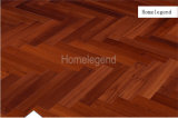Plancher en bois de parquet en arête de poisson de teck de couleur rouge de vin/plancher en bois conçu
