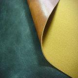Couro do plutônio do Softness para sapatas ou sacos com revestimento protetor tecido (HS-M231)