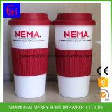 Tazza di caffè calda disponibile di colore di colore rosa di vendita dell'imballaggio su ordinazione