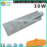 5W-120W Luminaria esterno tutto in un indicatore luminoso solare della via LED con il sensore di movimento