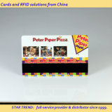 Volle kleuren PVC magneetstrip Card voor Pizzeria Kortingskaart