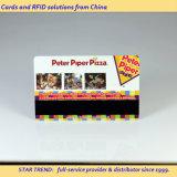 Colores completos tarjeta de banda magnética PVC para la tarjeta de descuento de Pizzeria
